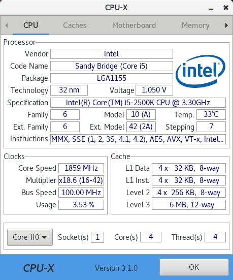 Screenshots (previous versions) · X0rg/CPU-X Wiki · GitHub