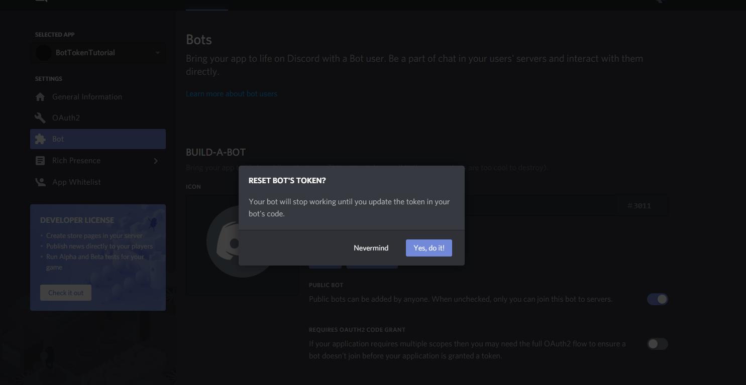 Creating a discord bot & getting a token · reactiflux