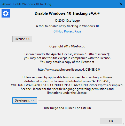 disablewintracking - windows 10 tracking disable tool