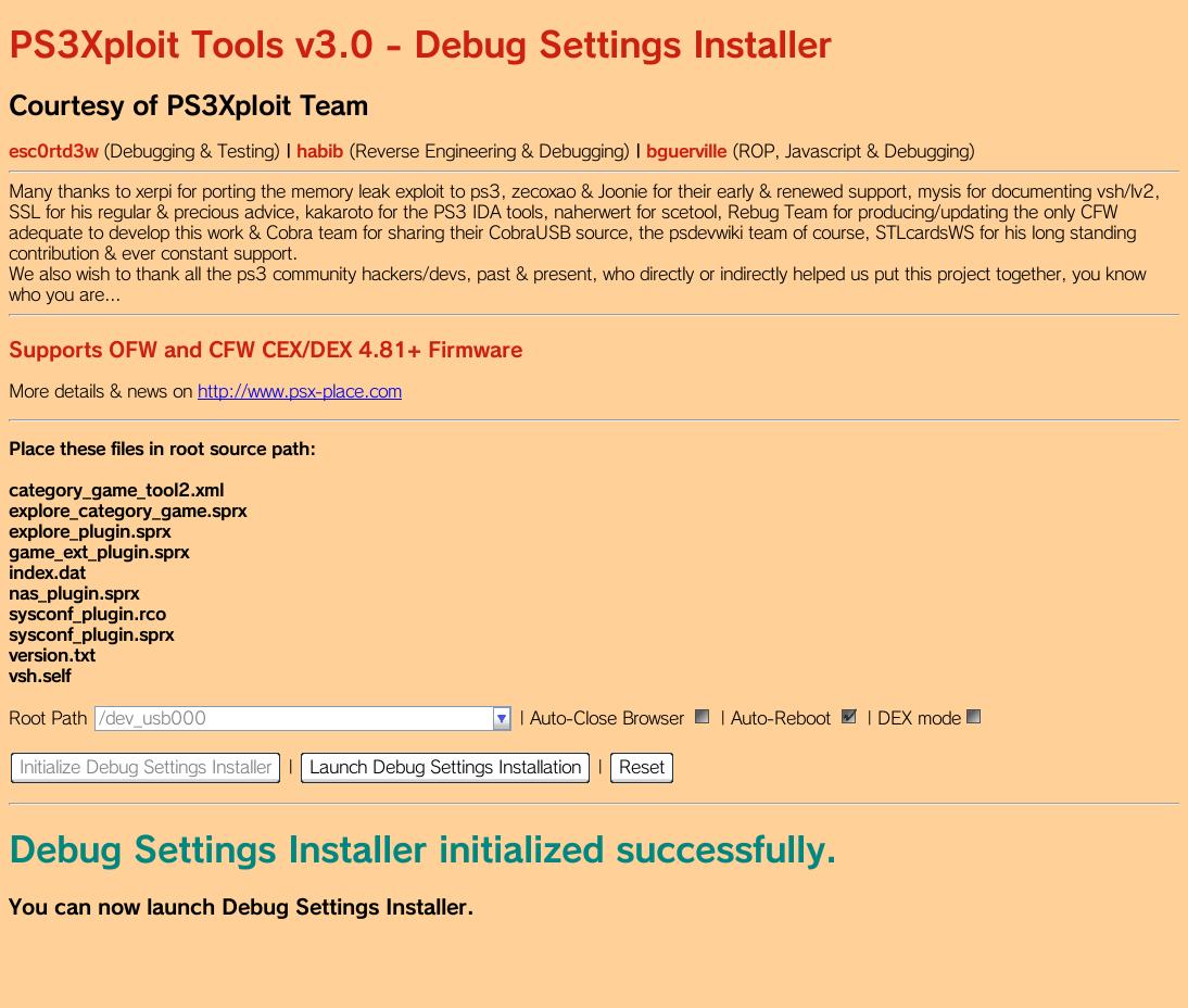 GitHub - PS3Xploit/debug-settings-installer: PS3Xploit v3 HAN Debug