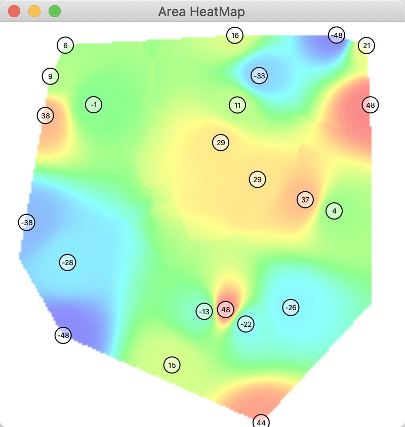 Area heat map