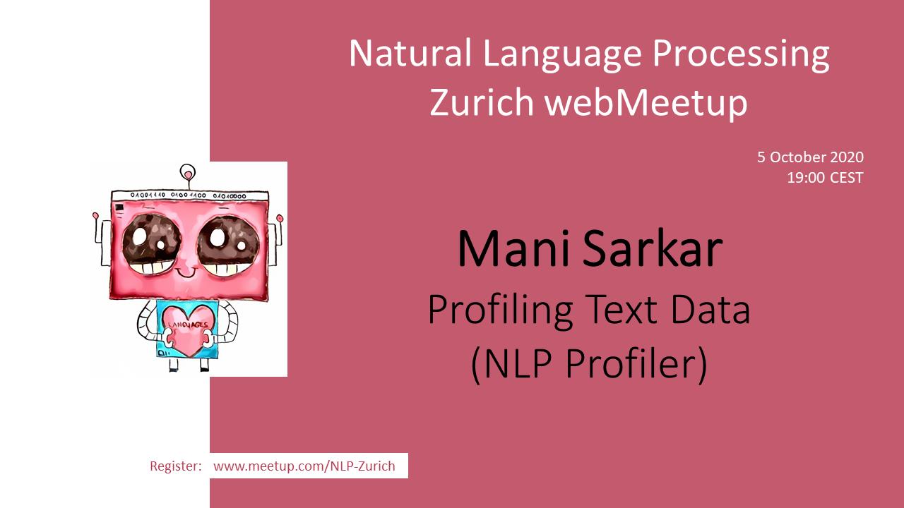 Demo of the NLP Profiler library (NLP Zurich talk)