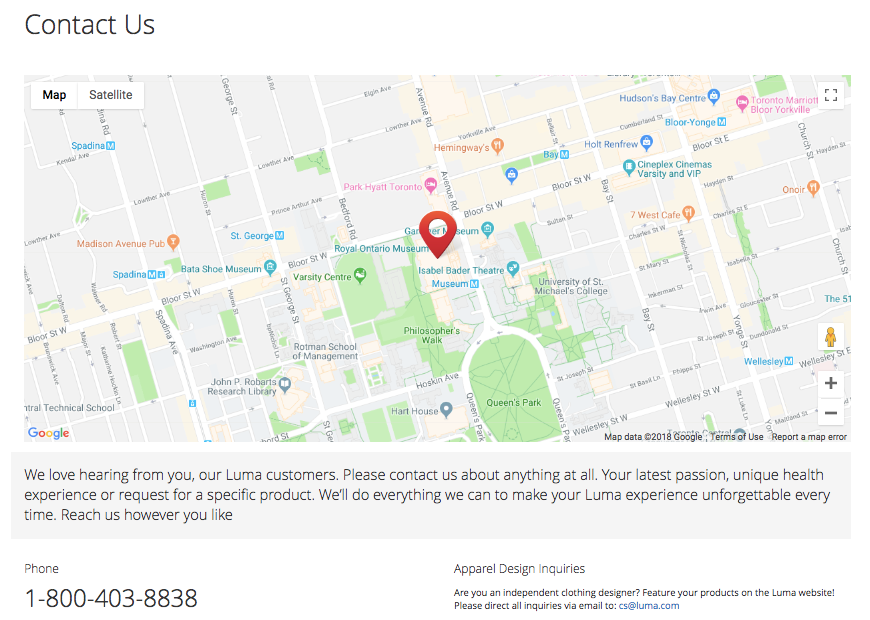 Magento 2 Add Google Maps to Contact Page