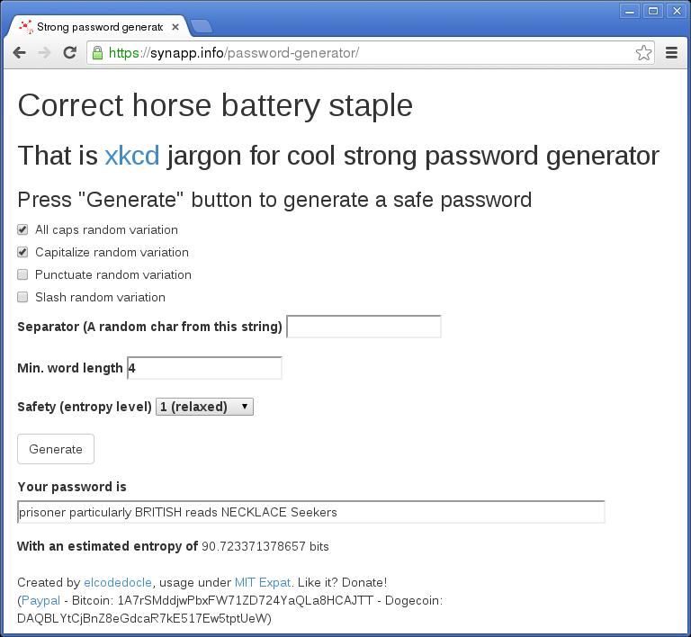 bitcoin generátor jelszó