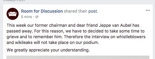 Room for Discussion Facebook post, source:https://archive.is/ZOo4h