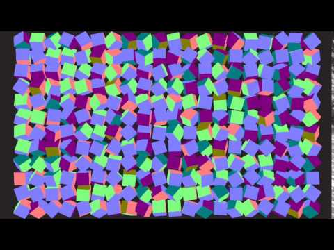 Instanced cubes