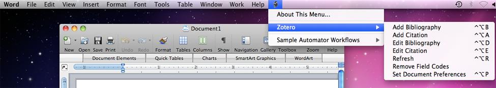 Word 2008 Toolbar
