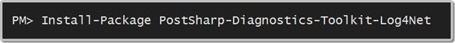PostSharp Diagnostics Toolkit for Log4Net