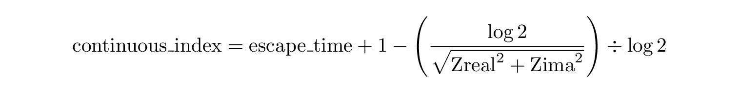 Continuous Index Formula
