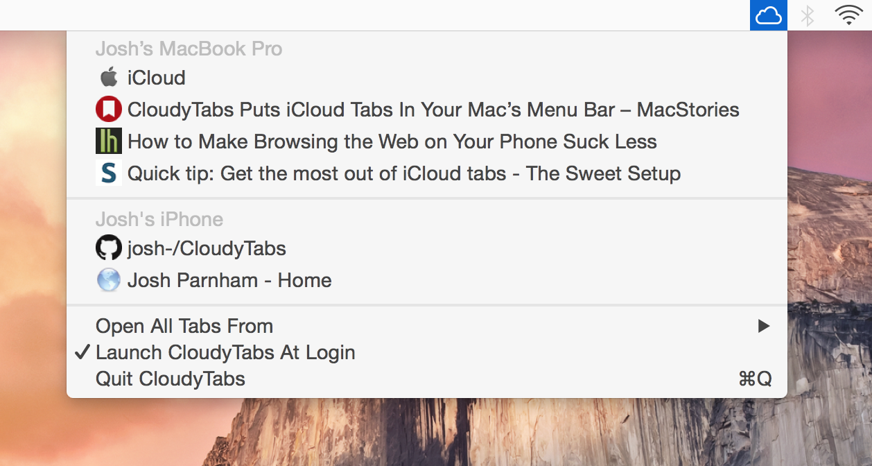CloudyTabs