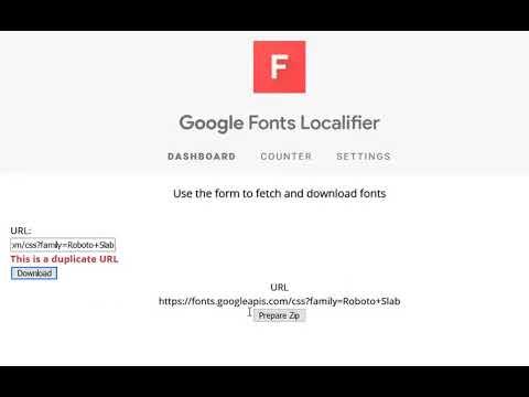 GitHub - Noitidart/Google-Fonts-Localifier: PWA :: Provide a Google