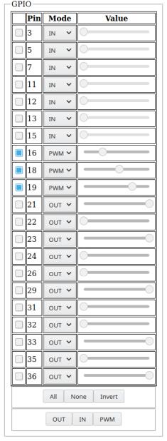 WebGPIO interface