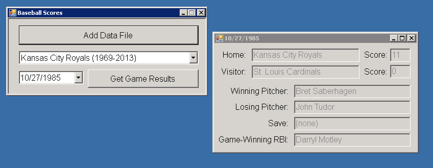 BaseballStats Screenshot