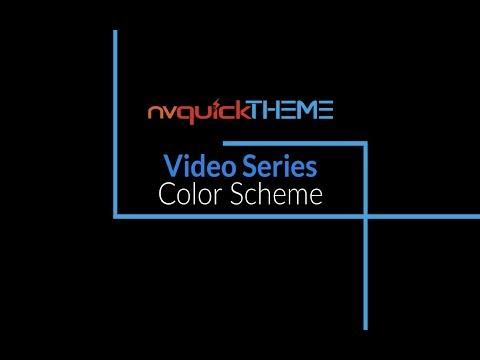 nvQuickTheme Video Series - Color Scheme