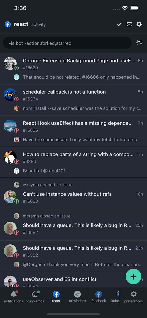 DevHub Mobile - Repository activity