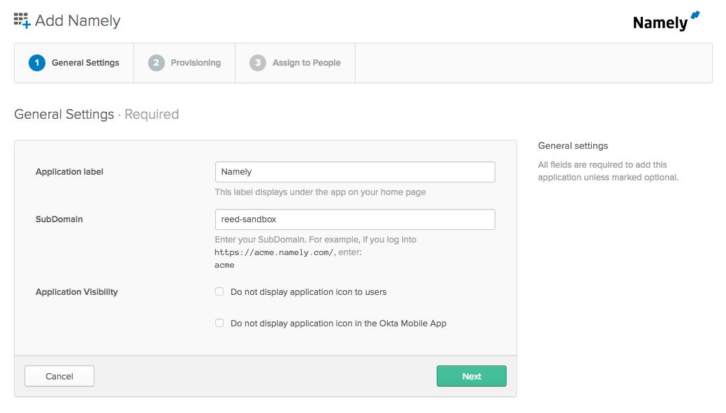 Okta/Namely SCIM Configuration Guide · GitHub