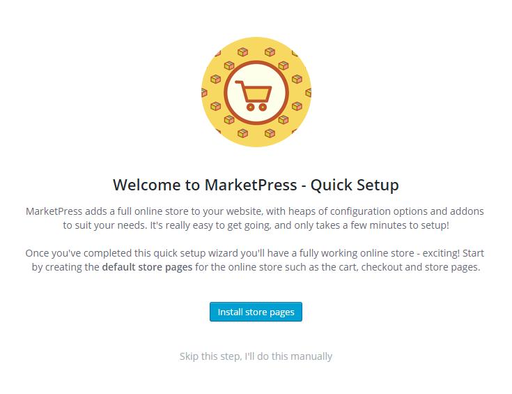 MarketPress - Quick Setup Start