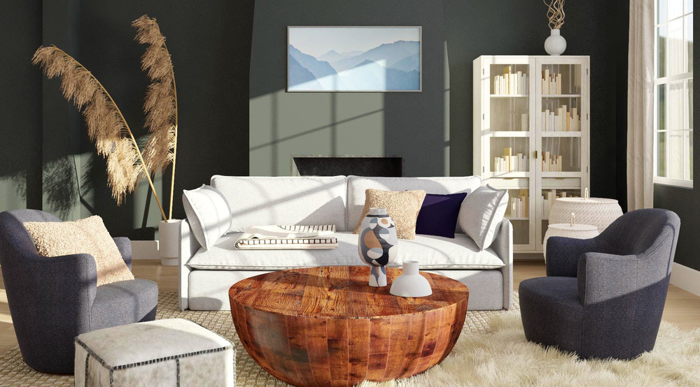 Modsy: Moody sitting area