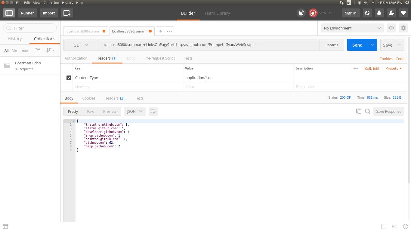 Web Scraping Java Source Code