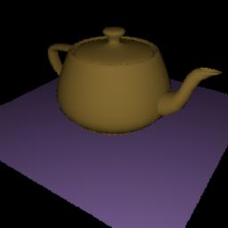 Teapot scene rendered via Rust version of PBRT
