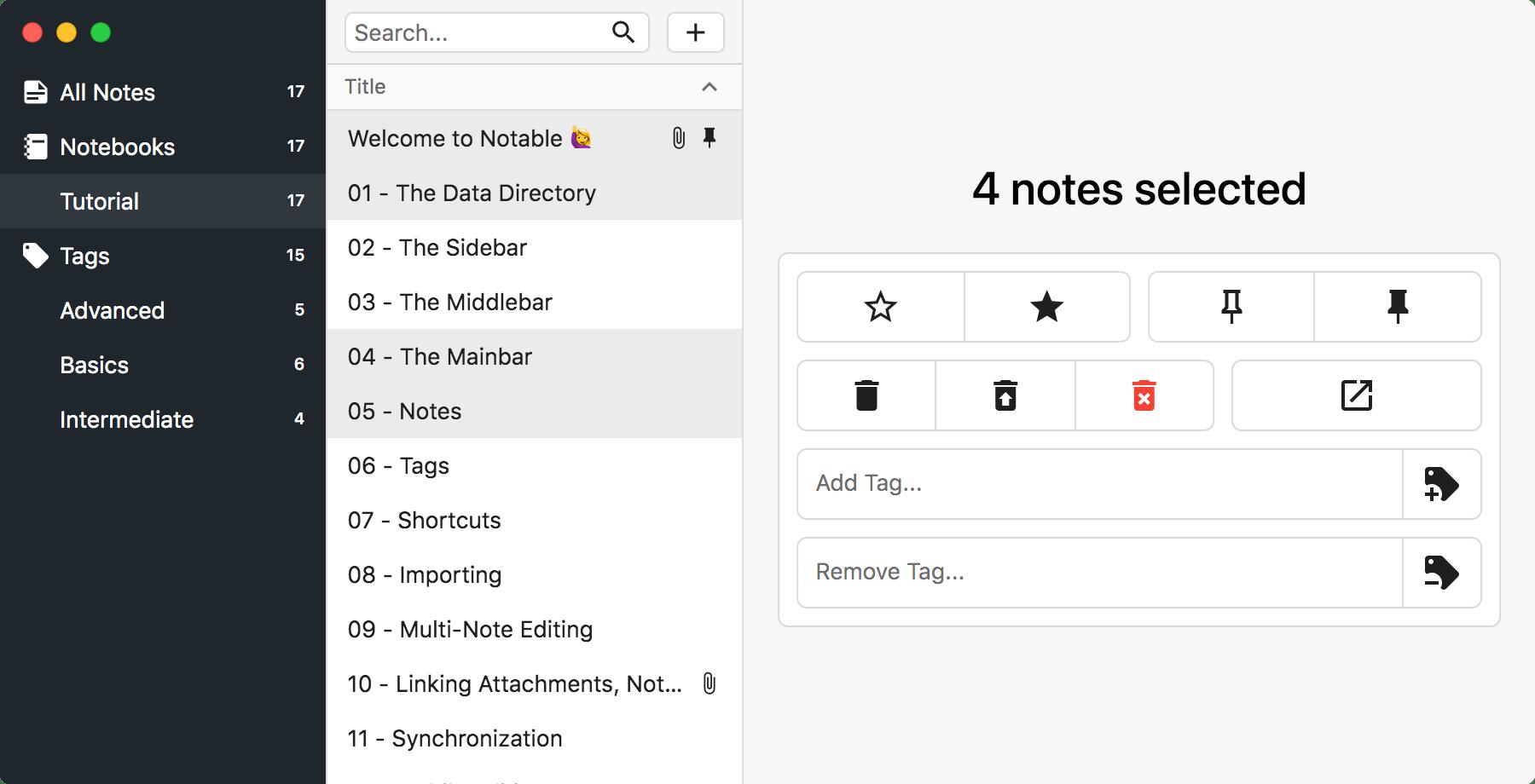 Multi-Note Editor