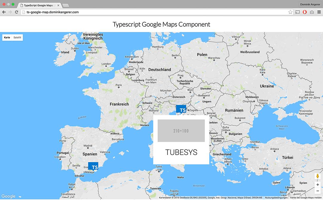 GitHub - DominikAngerer/typescript-google-maps: Simple ...