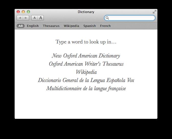 More Dictionaries!