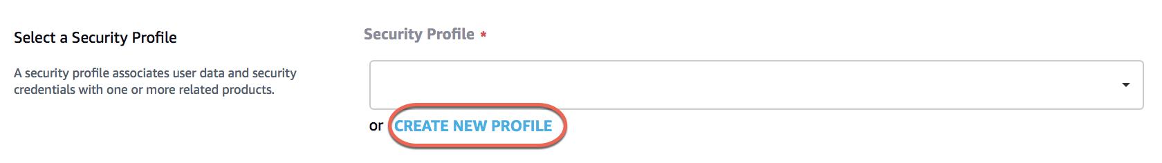 Create Security Profile · alexa/avs-device-sdk Wiki · GitHub