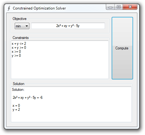 Quadratic Programming Solver