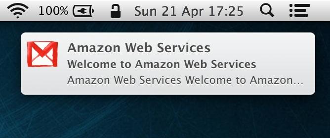 mac os x gmail notifier