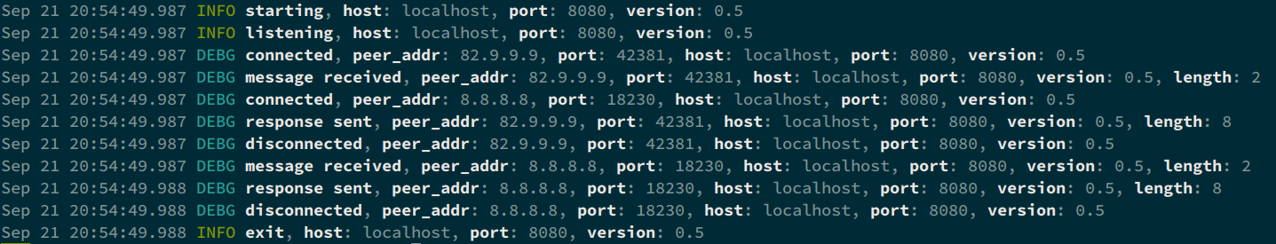 slog-rs terminal full output