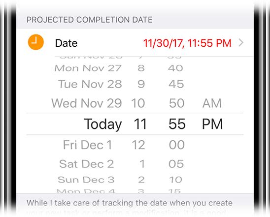 Time estimates tracker