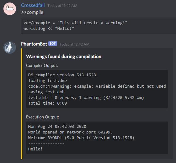 Compiler Warning