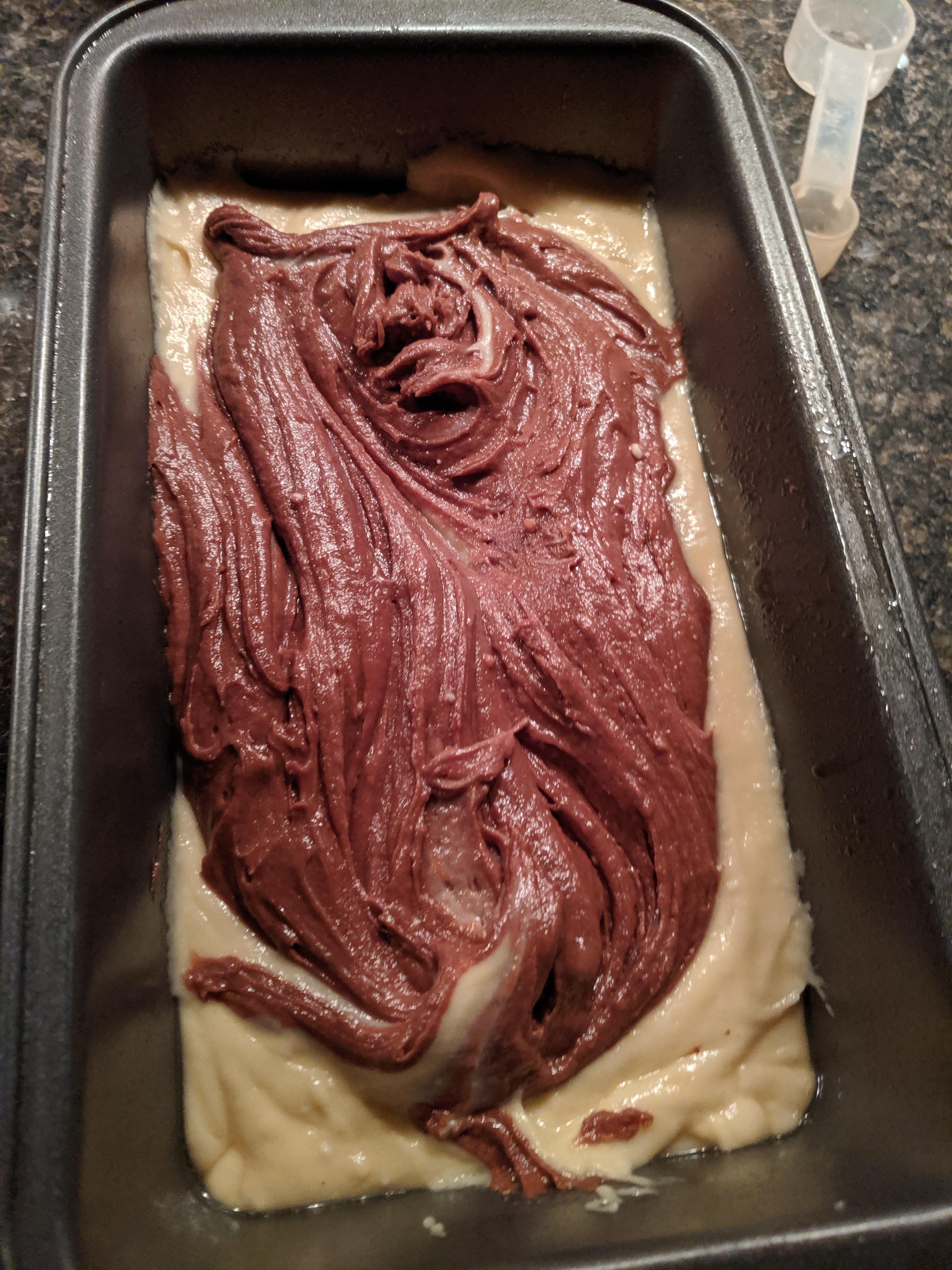 swirled in pan