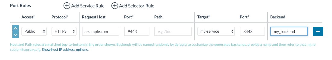 When checking ssl, add in `ssl` to each backend to allow
