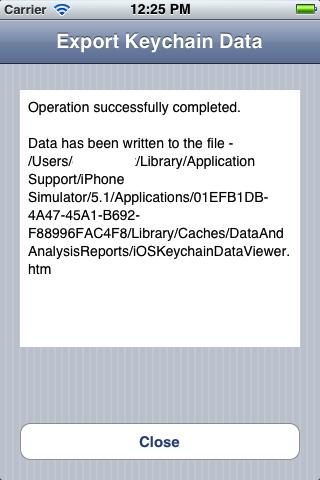 Export Keychain Data