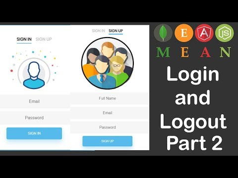 Video Tutorial for MEAN Stack Login and Logout