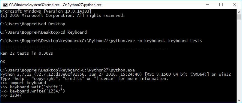 Windows support · Issue #4 · boppreh/keyboard · GitHub