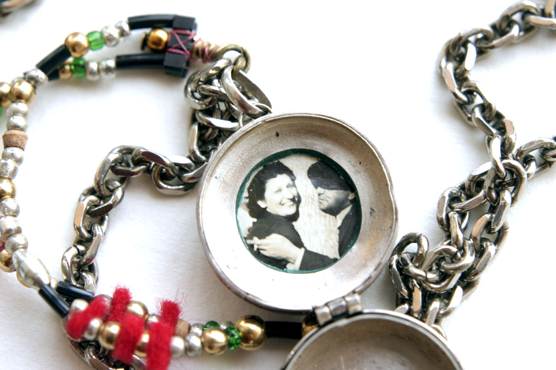 Salvage Necklace 5: inside locket
