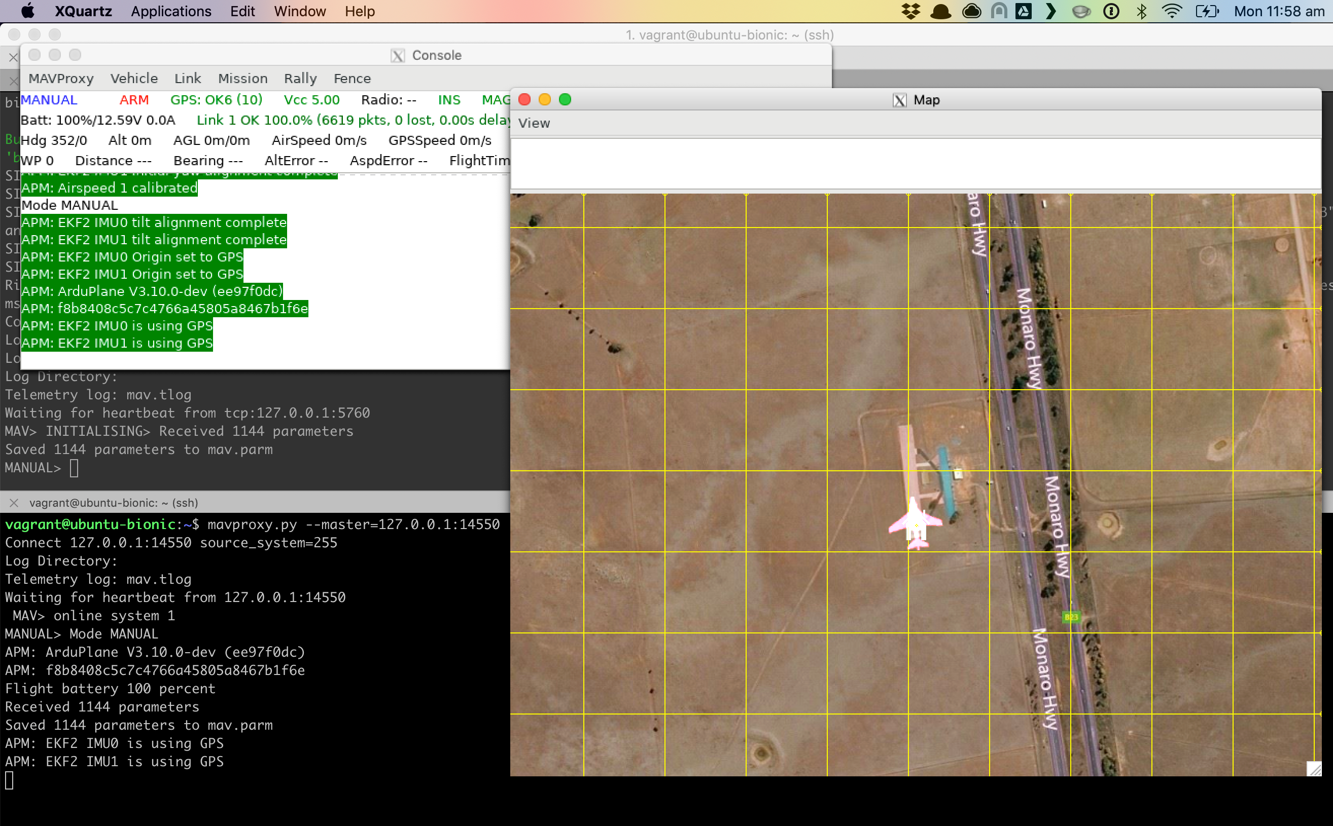 Instructions for running Ardupilot Simulation SITL within MacOS