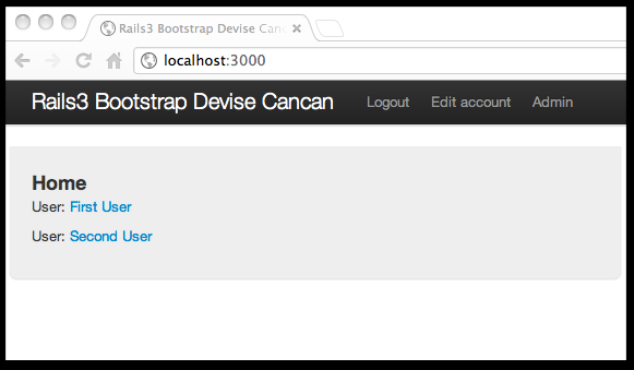 Rails Application for Devise with CanCan and Twitter Bootstrap
