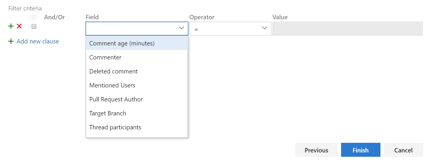 filter query