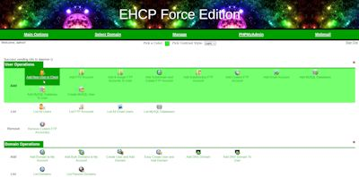 EHCP Force Edition Easy Hosting Control Panel Main Theme Screenshot
