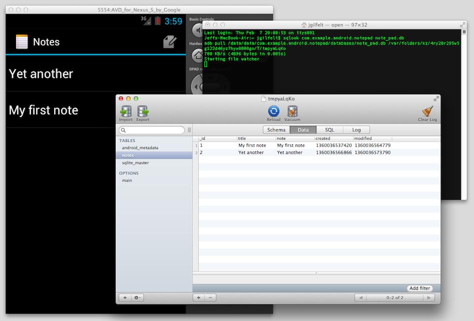 GitHub - jgilfelt/SQLook: Examine an Android SQLite database