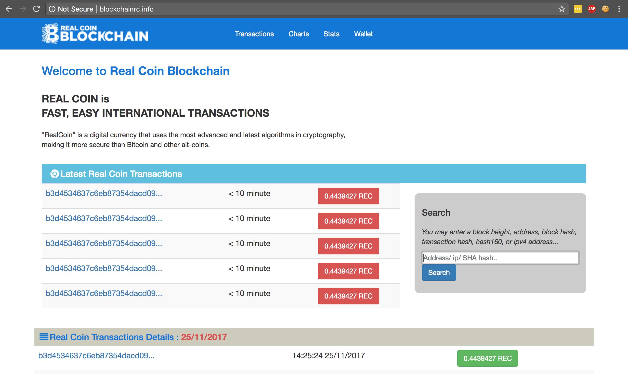 Blockchain.info Clone