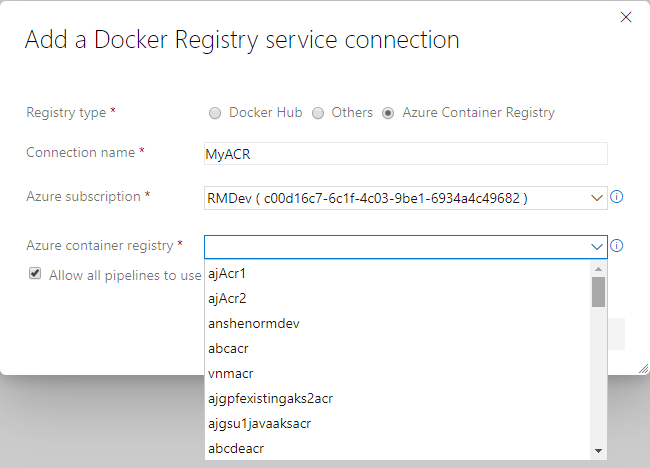 Add a Docker service container
