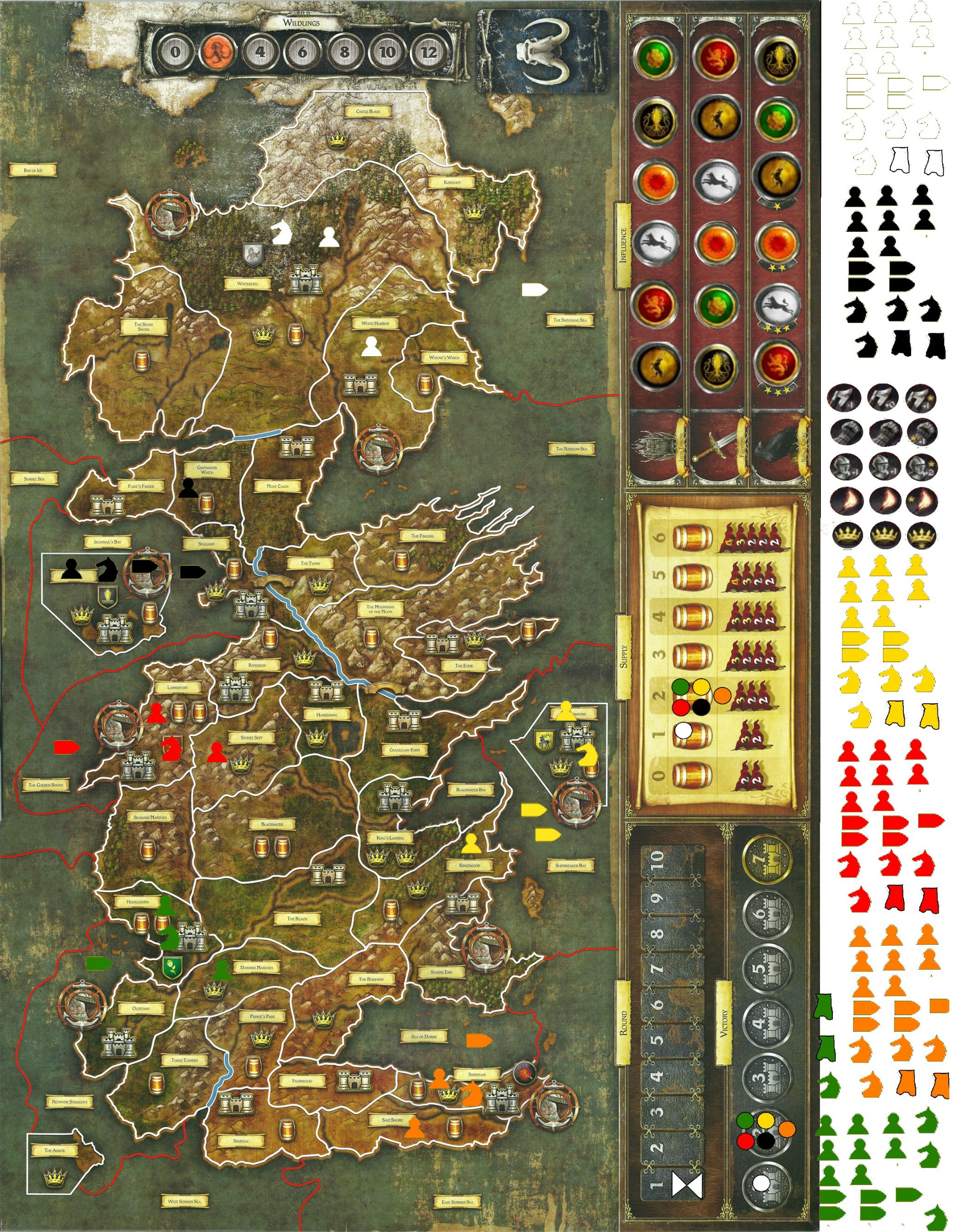 Original Map and Game Peices Reference mrhappyasthma GoT Board Game Wiki