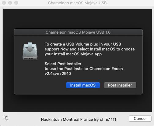 GitHub - chris1111/Chameleon-macOS-Mojave-USB: Main support