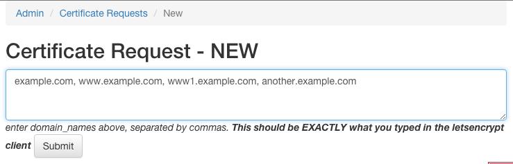 CSR: Automate 'manual': Enter Domains
