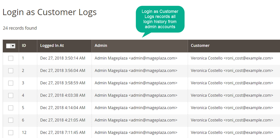 Magento 2 Login as Customer module
